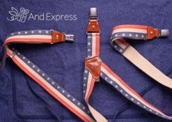 Apron with suspenders
