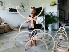 Wooden rainbow for kids